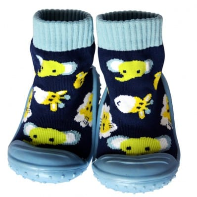 Baby boys Socks shoes with grippy rubber | Jungle