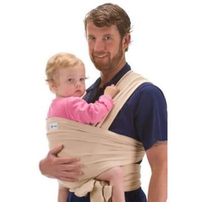 BEBEMOOI - Baby Wrap Sling Carrier Organic cotton and Elastane | Beige